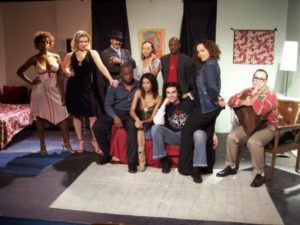 """The Vacancy"" stage play cast, February 2006.  (I had a cameo as a waiter.)"